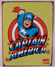 "Captain America Retro 12.5"" X 16"" Comic Book Tin Sign Marvel Comics #1440"