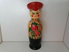 Poupée russe matriochka USSR en bois peinte main 34cm ancienne vintage années 70