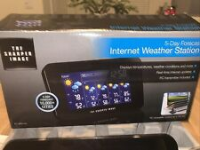THE SHARPER IMAGE EC-WS115 5-DAY FORECAST INTERNET WEATHER STATION PC COMPATIBLE