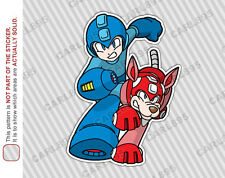 Mega Man and Rush Car Truck SUV Vinyl Bumper Sticker