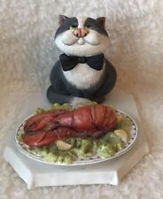"Comic Curious Cats ""Dinner Is Served� - Cat with Lobster"