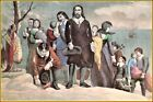 Currier & Ives: The Landing of The Pilgrims at Plymouth, Mass  Art Print