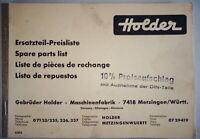 Catálogo de Piezas / Lista de Repuestos - Precios Soporte 1963