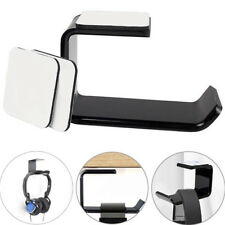 Headphone Stand Hanger Hook Tape Black Acrylic Under Desk Headset Mount Holder