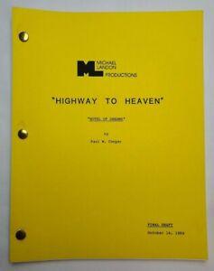 "HIGHWAY TO HEAVEN / 1984 TV Series Script, Jacques Aubuchon ""Hotel of Dreams"""