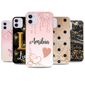 For iPhone SE 2020 8 Plus 7 6s XS XR 11 Case Personalised initials Cover x11050