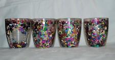 4 Tervis Tumblers Insulated Cups 12 oz Multi Color Confetti Tumbler Glass