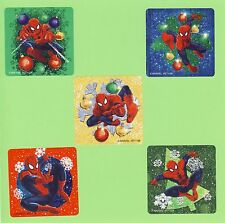 15 Spiderman Christmas Winter Holiday - Large Stickers - Party Favors - Rewards