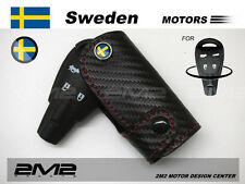 SMART Leather Key fob Holder Case Chain Cover For SAAB 93 95 9-3 9-5 convertible