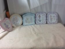 Collectible Set of 5 Precious Moments Ceramic Wall Hanging Plaques pre-owned