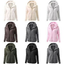 Women Velvet Suede Hoodie Winter Coat Fluffy Hooded Parka Jacket Warm Outerwear
