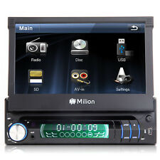 "Indash 7"" LCD Motorized Touch Screen Car Stereo Radio AVI/DVD/MP3/VCD/CD Player"