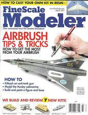 Fine Scale Modeler Mar.2011 Airbrush Hunley Submarine Harrier Casting Resin