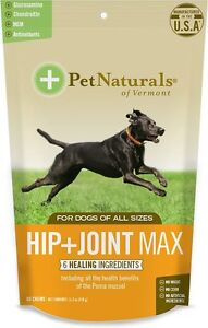 Pet Naturals of Vermont Hip + Joint Max Dog Chews, 60 count Free Shipping