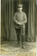 German Soldier in Military Uniform With Sword Hat & Boots