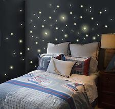 Leuchtpunkte Sterne Leuchtsterne Wandtattoo fluoreszierend Sternenhimmel M738