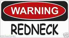 Warning REDNECK  Decal Sticker ATV Funny Toolbox Car