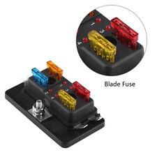 4Way Car Van Circuit Blade Fuse Box Block Holder ATC/ATO w/LED Warning Light Kit