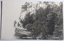 1947 RPPC POSTCARD OF MINERS CASTLE  AU TRAIN MICHIGAN TO FORT WAYNE INDIANA