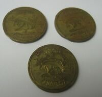 3 Galaxy World Gala Lanes Arcade Video Game Token Coins UFO Space Carol Stream