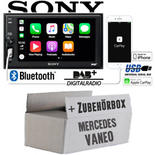Radio Sony Bluetooth | DAB+ | Apple CarPlay | Einbauset für Mercedes Vaneo W414