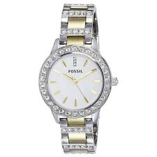 New in Box Fossil Jesse ES2409 2 Tone Gold & Silver Wrist Watch for Women