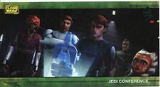 Star Wars Clone Wars Widevision Silver Stamped Parallel Base Card [500] #13