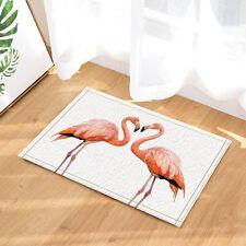 Door Mat Bathroom Rug Bedtoom Carpet Bath Mats Rug Non-Slip Flamingo couple