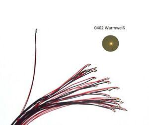 SMD LED 0402 10X Warmweiß Weiß Verdrahtet  LED Modelleisenbahn