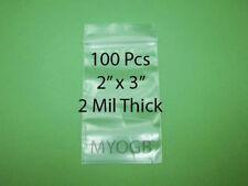 "100pcs 2"" x 3"" Zip Lock Plastic Bags-Storage-Jewerly-Parts-Gold Nuggets"