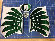 Oregon Ducks Green Chrome Full Size Helmet Decals Pro Combat Edition Wing Decals