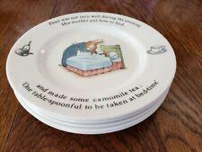 Wedgwood Peter Rabbit Bread & Butter Plates Beatrix Potter Near Mint