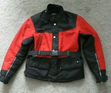 BMW Motorrad Seattle (Size EU 48 / UK Med) Black/Red Motorcycle Jacket - Exc Con