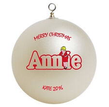 Little Orphan Annie Personalized Christmas Ornament Gift