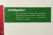 Aufkleber/Sticker: Unfallgefahr - Grabstein Ist Nicht Mehr Standsicher(30031621)
