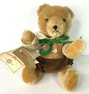 Teddy Hermann Original Jointed Mohair Bear 75 Yr Anniversary 1986 Vtg Signed  #