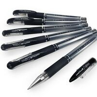 Uni-Ball UM-151S Signo Gel Grip Rollerball Pen – 0.7mm - Black - Pack of 6