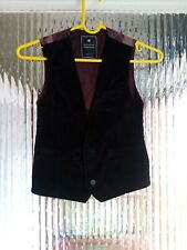 Preowened Boys Multicoloured front suede Beautiful waistcoat Age UK 8 years