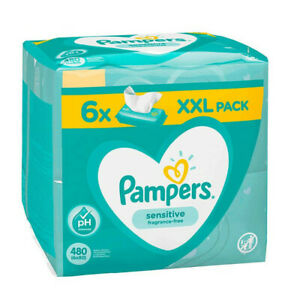 Pampers Sensitive Babytücher 6x 80er Wet Wipes Wipes Cleaning Cloths