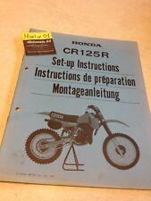 Honda CR125R CR125 R CR 125 instruction preparation setup manuel