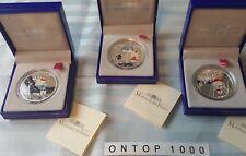 """Frankreich 2005 """"Hello Kitty"""" 3 x 1,5 Euro Silber PP selten!"""