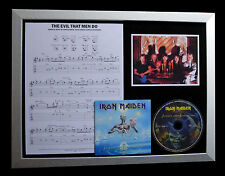 IRON MAIDEN Evil That Men Do TOP QUALITY CD LTD FRAMED DISPLAY+FAST GLOBAL SHIP