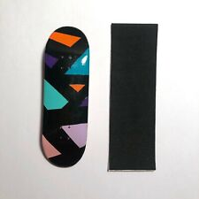 Hand Painted Handmade Wooden Fingerboard Deck (flatface, Blackriver, Yellowood)