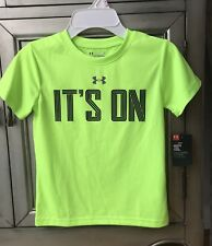 NWT Under Armour Boys Heat gear Active Short Sleeve Tee Green SZ:5 Years