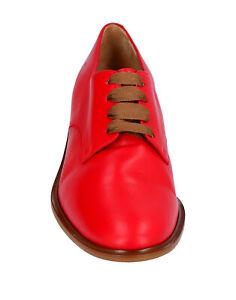 CLERGERIE Paris Leather Women's Red Oxfords lace up shoes Sz 8.5 US /39 EU NIB