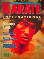 Bruce Lee Cover Rare Karate International Magazine #1 1989