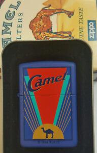 ZIPPO CAMEL #Z 200 CAMEL ART DECO 1996 RJR VERY RARE BLUE CASE