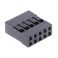 10x Connettore 10-poli 2x5 Dupont 2,54 mm 10 Pin Femmina Presa Arduino contatti