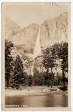 1935 YOSEMITE FALLS RPPC RP Real Photo Postcard CALIFORNIA Park WATERFALL Cali