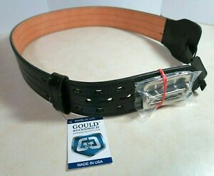 Gould & Goodrich Leather Fully Lined Duty Belt - 4 Row Stitched - Size 32
